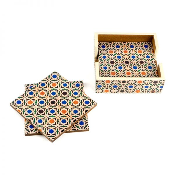 islamic geometry coasters
